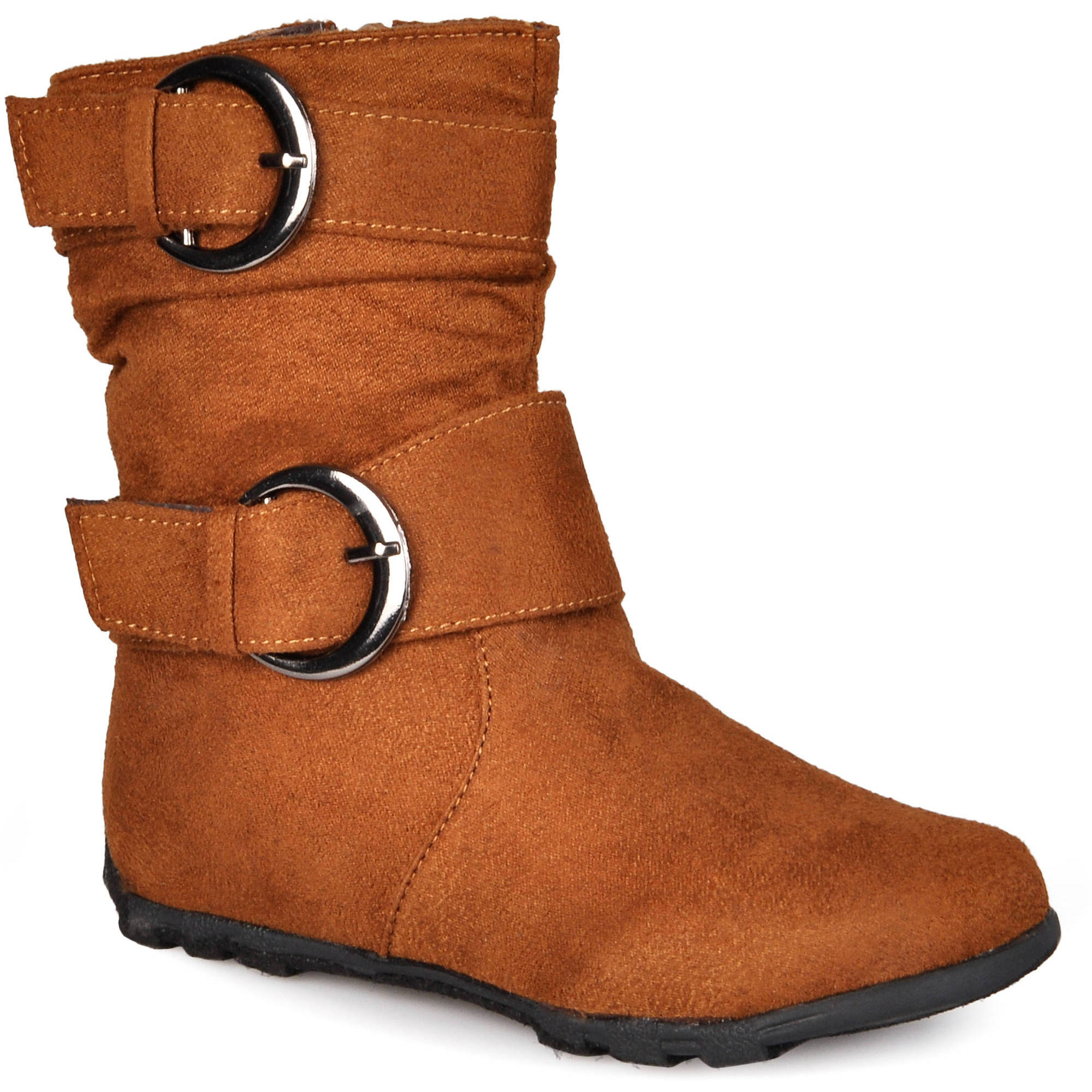 Brinley Co Girls Buckle Accent Mid-calf Boots
