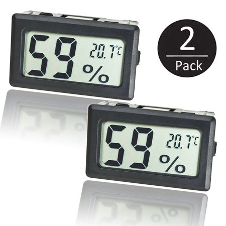 2-pack Mini LCD Digital Electronic Temperature Humidity Meter Indoor Thermometer Hygrometer