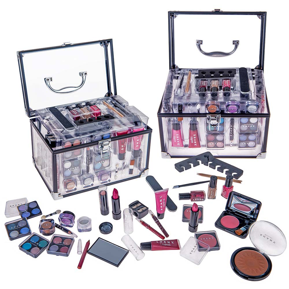 SHANY Carry All Trunk Makeup Set (Eye shadow palette/Blushes/Powder/Nail Polish and more) - Walmart.com