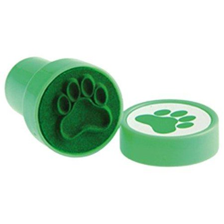 Lot Of 6 Green Dog Puppy Paw Print Mini Stampers - Paw Print Stamp