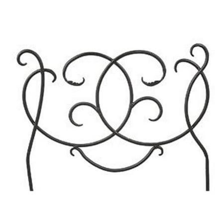Scroll Decorative Garden Edging and Fencing - Black Powdercoat ()