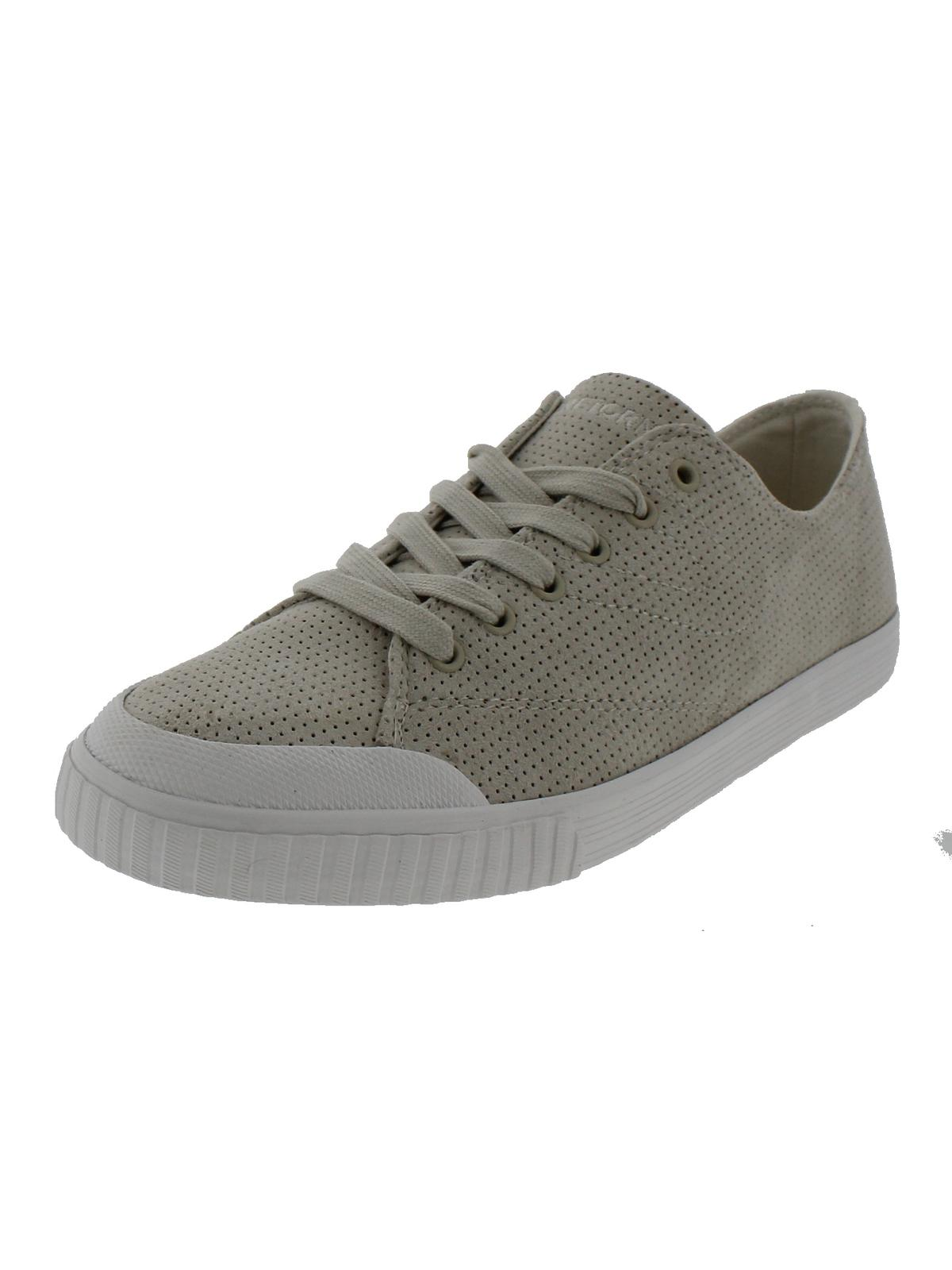 Tretorn Womens Suede Perforated Casual Shoes Beige 10 Medium (B,M) by Tretorn