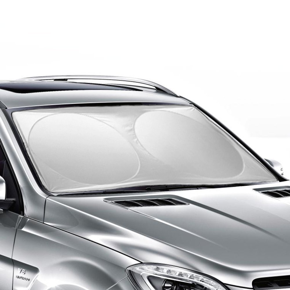 160*86 CM Auto Car Sun shade Windshield Cover Visor Foldable Protector Sunshades Awning Shade 63 X 33.86 inches(Ohuhu)