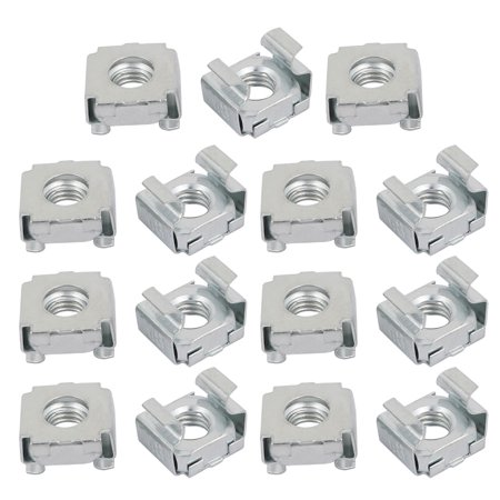 Silver Plated Server - 15Pcs M8 Carbon Steel Zinc Plated Cage Nut Silver Tone for Server Shelf Cabinet