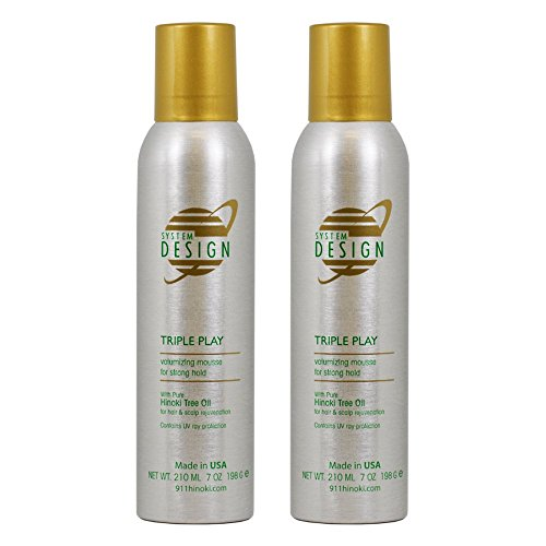 "Hayashi System Design Triple Play Volumizing Mousse 7oz ""Pack of 2"""