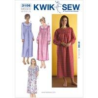 Kwik Sew Pattern Nightgowns, (XS, S, M, L, XL)