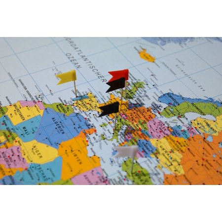 Canvas Print Destinations Map of The World Map Travel Country Stretched Canvas 10 x 14