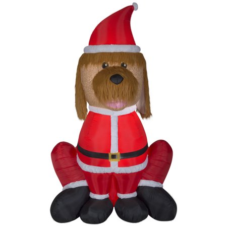 airblown inflatable mixed media golden doodle giant 9ft tall by gemmy industries - Goldendoodle Christmas Decorations