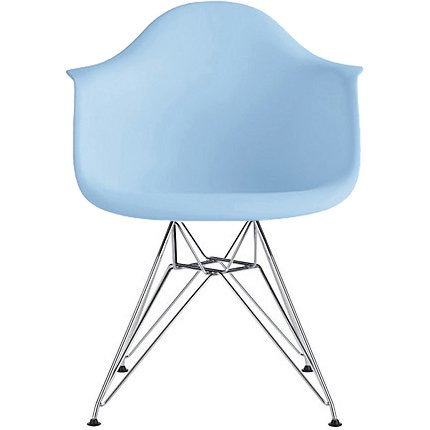 2xhome Blue Mid Century Modern Industrial Plastic Dining Chairs Eiffel Molded With Arms Armchairs Chrome Metal Silver Legs Desk Accent Chair Vintage for Kitchen Furniture Office Living Room (Metal Desk Chair)