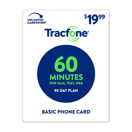 TracFone $19.99 Basic Phone 60 Minutes Plan (Email