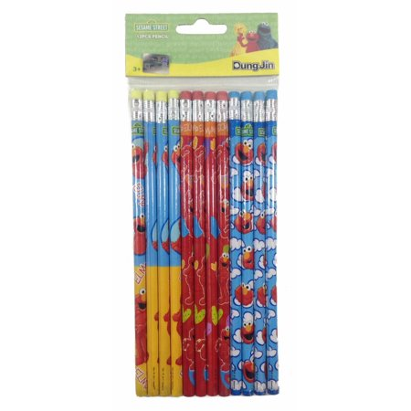 Party Favors Sesame Street Elmo 24 Wood Pencils Pack