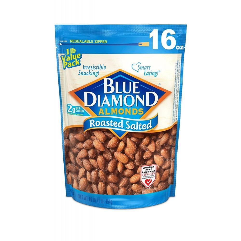 Blue Diamond Almonds, Roasted Salted 16 oz