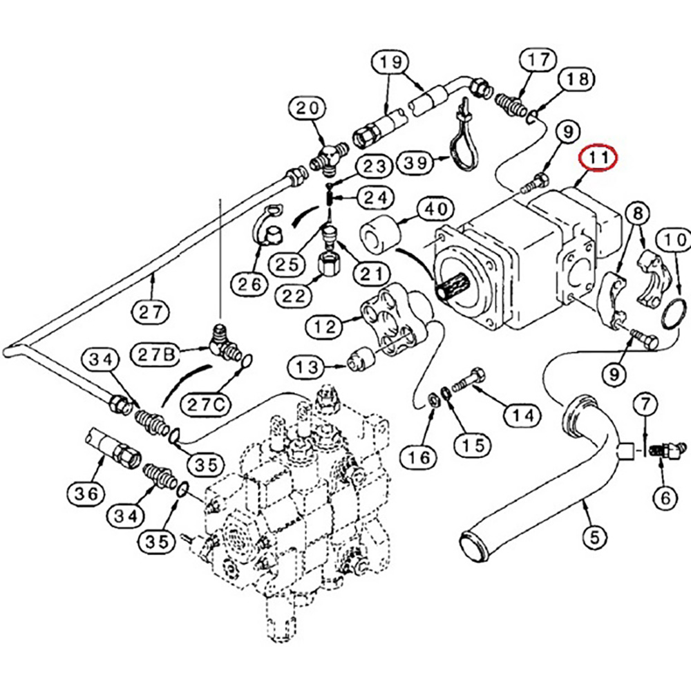 87433897 New Loader Backhoe Hydraulic Pump Made To Fit Case 580sl