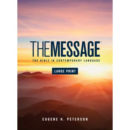 The Message Large Print (Hardcover) : The Bible in Contemporary Language](Christian Messages For Halloween)