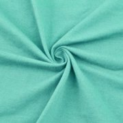 Aqua Cotton Spandex Jersey Knit Fabric Combed 7oz - Fabric for Face Mask