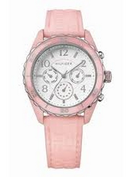 Tommy Hilfiger 1781081 Ladies Chrono Pink Silicone