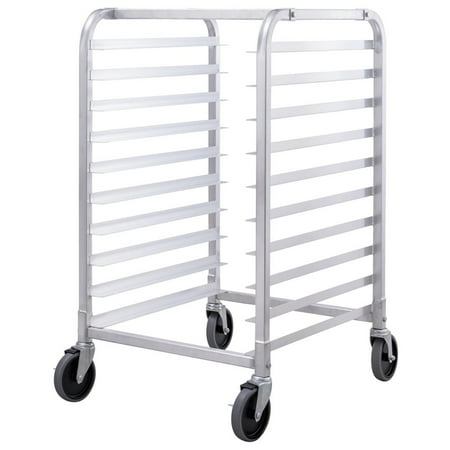 Costway 10 Sheet Aluminum Bakery Rack Commercial Cookie Bun Pan Kitchen w/Wheel