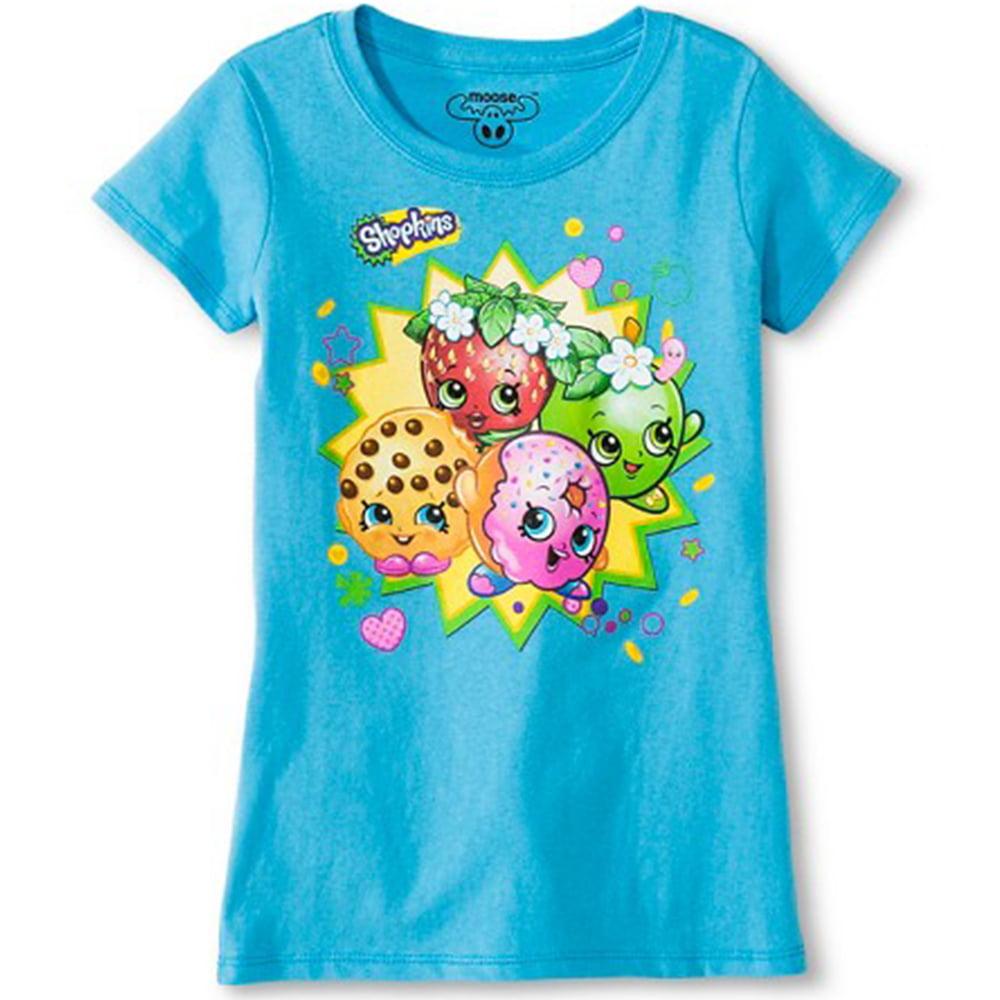 Shopkins Strawberry Kiss Sweet Blossom Girl/'s T-Shirt