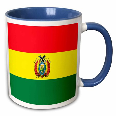 3dRose Bolivia Flag - Two Tone Blue Mug, 11-ounce
