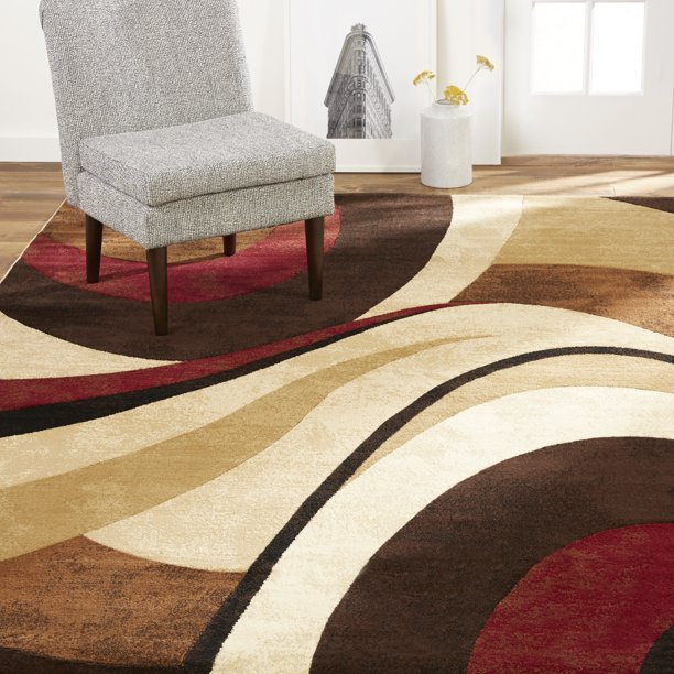 Home Dynamix Tribeca Slade Abstract Area Rug Brown Red 7 10 X10 6 Walmart Com Walmart Com