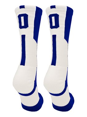 d67a2a73d8 Product Image Player Id Royal/White Number Crew Socks (#00, Small) - #
