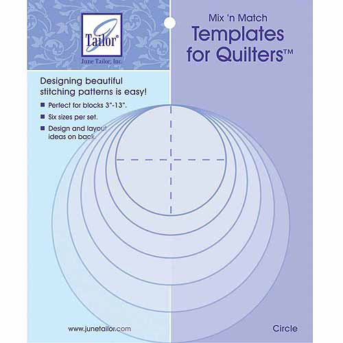 Mix'n Match Templates For Quilters, 6pk