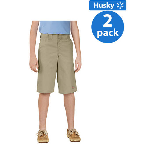 Genuine Dickies Husky Boys Shorts with Multi Use Pocket, 2 Pack