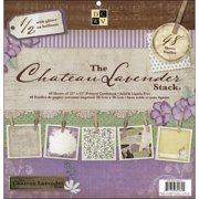 Die Cuts with A View 12-inches by 12-inches Premium Paper Stack with Glitter, Chateau Lavender