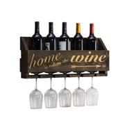 """Le Luxe Engraved """"Home is Where"""" Wine Rack by Del Hutson Designs"""