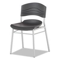 Iceberg 64517 Cafeworks Chair, Blow Molded Polyethylene, Graphite/silver, 2/carton