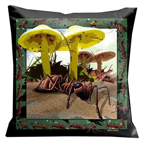 Lama Kasso Botanic Fantasy Bugs and Ants Microsuede Pillow
