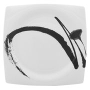 Red Vanilla Paint It Black 7.75 in. Square Salad Plate - Set of 4