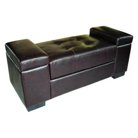 Ore International Open Storage Bench, Dark Brown ()