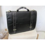 Amerileather 2760-2 Traditional Double Slip-in Executive Briefcase, Brown