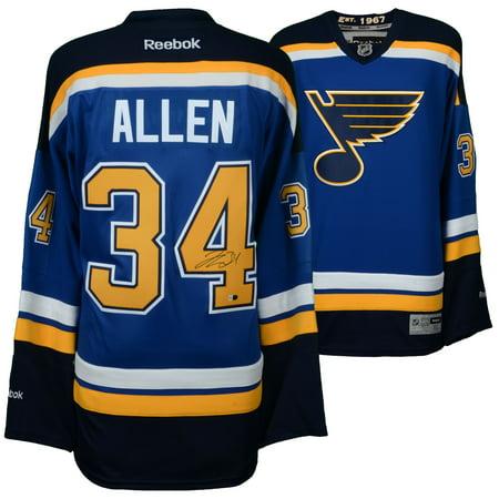 (Jake Allen St. Louis Blues Fanatics Authentic Autographed Blue Reebok Premier Jersey - No Size)