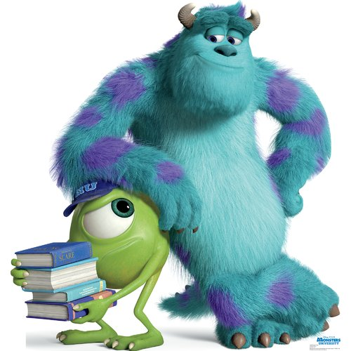 mike and sulley - disney pixar's monsters university - advanced graphics life size cardboard standup