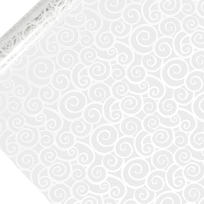 "White Swirls Printed Cellophane 30"" X 100' by Paper Mart"