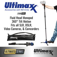 "ULTIMAXX 62"" Deluxe Heavy Duty Monopod with Step ON/OFF Base Stand"