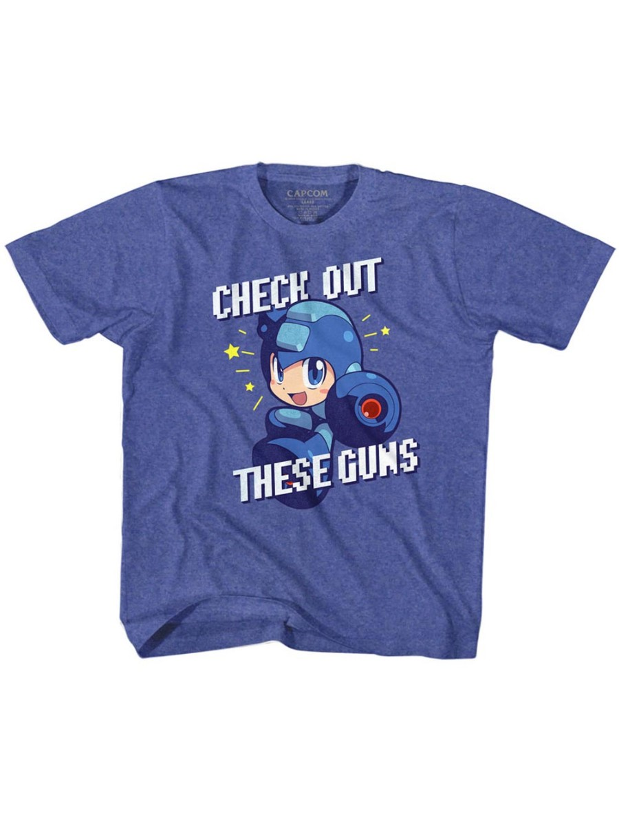 Mega Man Capcom Video Game Check It Out Toddler Little Boys T-Shirt Tee