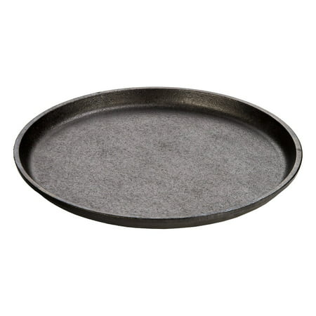 "Lodge 9.25"" Round Handleless Seasoned Cast Iron Serving Griddle, L7OGH3"