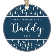 """New Daddy 2019 Holiday Ornament Baby Boy Girl Special Snowflake Classic Christmas Tree Gift Decor 1st Xmas Newborn Collectible Congratulations Blessed Keepsake 3"""" Beautiful Ceramic Present OR0885"""
