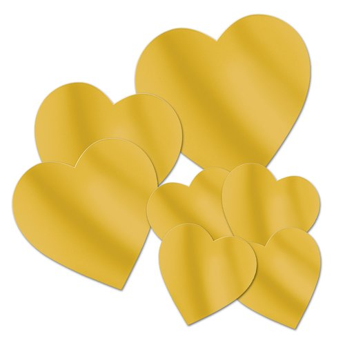 The Beistle Company 7 Piece Foil Heart Standup Set (Set of 3)