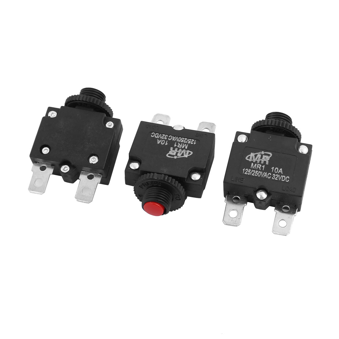 AC 125//250V DC 32V Miniature Thermal Circuit Breaker 7A-25A Overload Protector