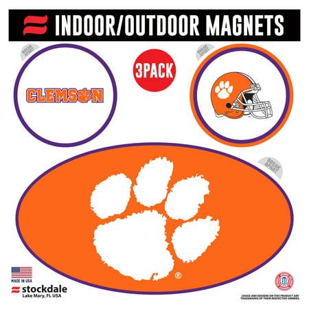 Clemson Magnet - Clemson Tigers Indoor & Outdoor 3-Pack Magnet Set - No Size