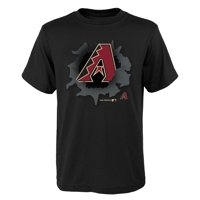 MLB Arizona DIAMOND BACKS TEE Short Sleeve Boys OPP 100% Cotton Alternate Team Colors 4-18
