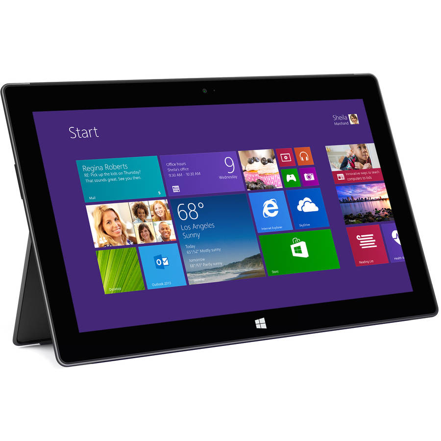 "Certified Refurbished Microsoft Surface Pro 2 with WiFi 10.6"" Touchscreen Tablet PC Featuring Windows 8.1 Pro Operating System, Dark Titanium"
