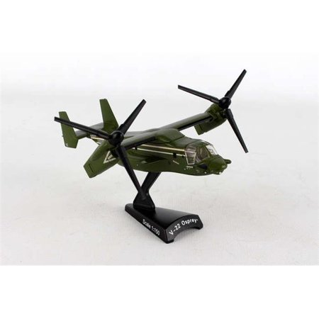 Diecast Metal Helicopter w/ Stand - Presidential MV-22 Osprey 1/150 HMX-1 Scale