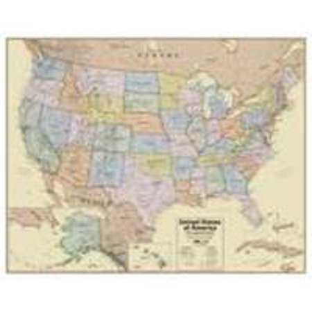 Hemispheres Boardroom Usa Laminated Wall Map Mural