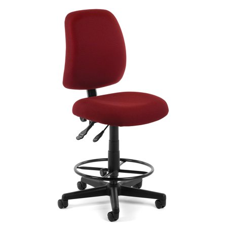 Brilliant Office Furniture Wine Model 118 2 Dk Posture Series Armless Fabric Swivel Task Chair With Drafting Kit 250 Lbs Weight Capacity Dailytribune Chair Design For Home Dailytribuneorg