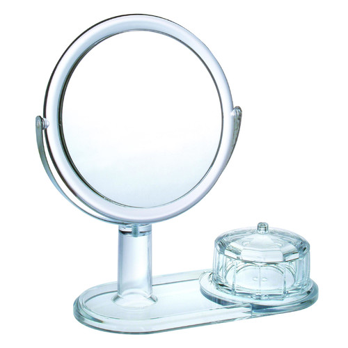Chenco Inc. Magnifying Mirror with Faceted Jewelry Box
